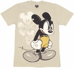 Disney Mickey Mad T Shirt Sheer
