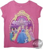 Disney Princesses Girls T-Shirt