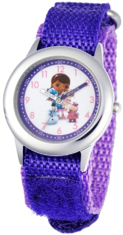 Doc McStuffins Kids Stainless Steel Purple Watch