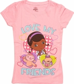 Doc McStuffins Love Friends Juvenile T Shirt