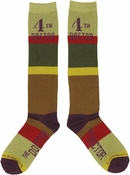 Doctor Who 4th Doctor Ladies Knee High Socks