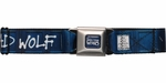 Doctor Who Bad Wolf Tardis Graffiti Seatbelt Mesh Belt