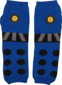 Doctor Who Blue Dalek Arm Warmers Fingerless Gloves
