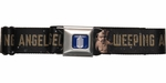 Doctor Who Brown Weeping Angels Black Seatbelt Mesh Belt