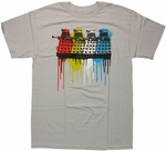 Doctor Who Color Drip Daleks T Shirt