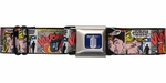 Doctor Who Comic Squares Seatbelt Mesh Belt