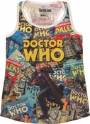 Doctor Who Comics Covers Junior Tank Top