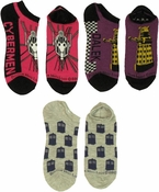 Doctor Who Dalek Cybermen TARDIS 3 Pair Ladies Socks Set