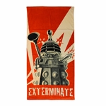 Doctor Who Dalek Exterminate Towel