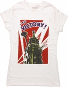 Doctor Who Dalek To Victory White Baby Tee