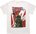 Doctor Who Dalek To Victory White T Shirt