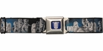 Doctor Who Gray Weeping Angels Don't Blink Seatbelt Mesh Belt