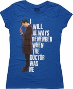 Doctor Who I Will Always Remember Baby Tee
