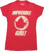 Doctor Who Impossible Girl Juniors T-Shirt