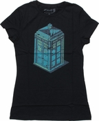 Doctor Who Isometric TARDIS Baby Tee