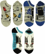 Doctor Who K-9 TARDIS Daleks 3 Pair Ladies Socks Set