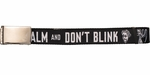 Doctor Who Keep Calm and Don't Blink Black Mesh Belt