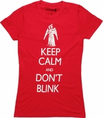 Doctor Who Keep Calm Don't Blink Angel Baby Tee