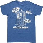 Doctor Who Knock Knock Joke T Shirt Sheer