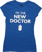 Doctor Who New Doctor Royal Blue Baby Tee