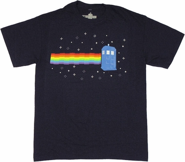 Doctor Who Nyan TARDIS T Shirt