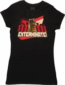 Doctor Who Red Dalek Group Exterminate Baby Tee