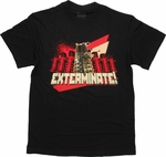 Doctor Who Red Dalek Group Exterminate T Shirt