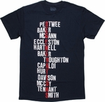Doctor Who Regenerations Names T Shirt