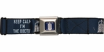 Doctor Who Tardis Keep Calm I'm the Doctor Seatbelt Mesh Belt