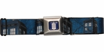 Doctor Who Tardis Police Box Navy Blue Seatbelt Mesh Belt
