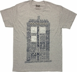 Doctor Who TARDIS Quotes Heather T Shirt