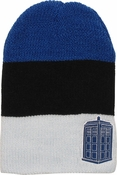 Doctor Who TARDIS Striped Slouch Beanie