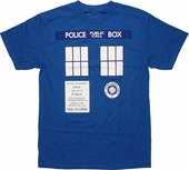 Doctor Who TARDIS Trompe T Shirt