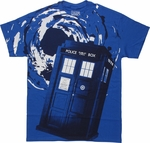 Doctor Who TARDIS Vortex Blue T Shirt