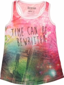 Doctor Who Time Can Be Rewritten Junior Tank Top
