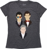 Doctor Who Vector Heads Trio Baby Tee