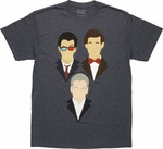Doctor Who Vector Heads Trio T Shirt