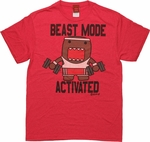 Domo Kun Beast Mode Activated T Shirt