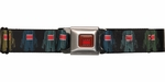 Domo Kun Vertical Colors Seatbelt Mesh Belt