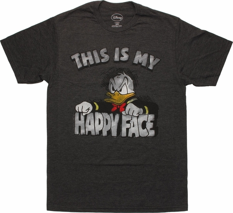 Donald Duck Happy Face T Shirt Sheer
