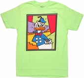 Donald Duck Mad Portrait T Shirt Sheer