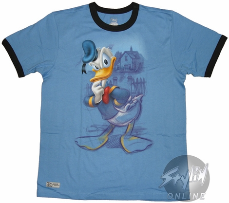 Donald Duck Pondering Youth T-Shirt