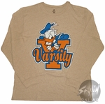 Donald Duck Varsity Long Sleeve T-Shirt