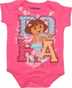 Dora the Explorer Cute Dept Snap Suit