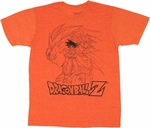 Dragon Ball Z Outlined Goku T Shirt Sheer