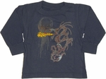 Dragon Flame Long Sleeve Infant T Shirt
