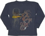 Dragon Flame Long Sleeve Juvenile T Shirt