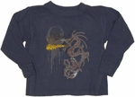 Dragon Flame Long Sleeve Toddler T Shirt