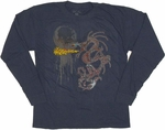 Dragon Flame Long Sleeve Youth T Shirt