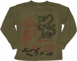 Dragon Seal Long Sleeve Juvenile T Shirt